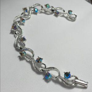 Vintage bracelet iridescent gems